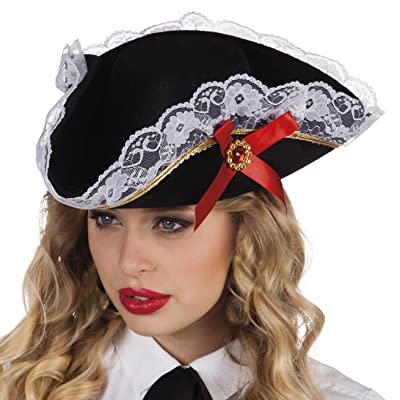 Boland 81928adultes Chapeau Pirate Stacey, One Size