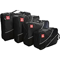 4-Pc. SkyMall Packing Cubes Travel Bags (Black)