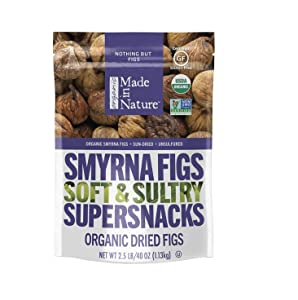 Made In Nature Organic Dried Smyrna Figs, 40 oz Bag- Non-GMO Vegan Dried Fruit Snack Pack of 2