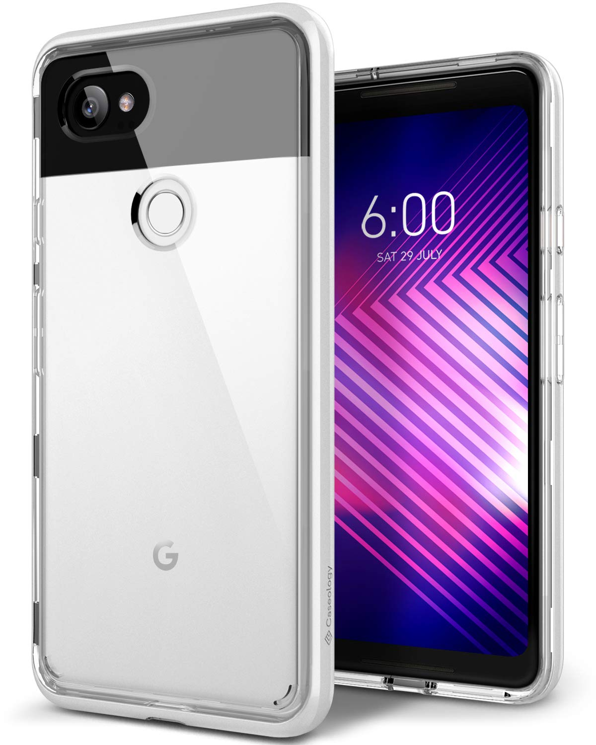 best website 6cd56 f83dd Caseology Skyfall for Google Pixel 2 XL Case (2017) - Clear Back & Slim Fit  - White