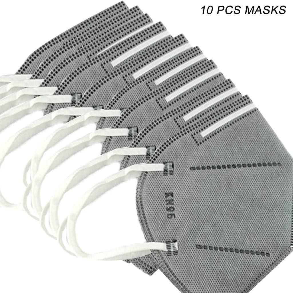 GUNGUN 3 Mascarilla con Válvula, Mascarilla Plegable Antipolvo Protección Autofiltrante 3 Mascarilla con Filtro% Máscara de Respiración Mascarilla de Seguridad 10pcs
