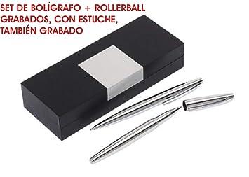 Set de Bolígrafo + rollerball GRABADOS testigos boda ...