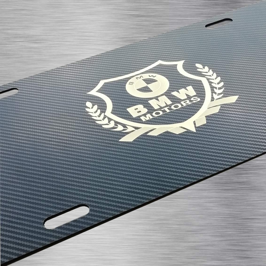Lexus Logo Golden Exquisite Carbon Fiber Grain Stainless Steel License Plate Cover,Carbon Fiber License Plate Frame for Lexus