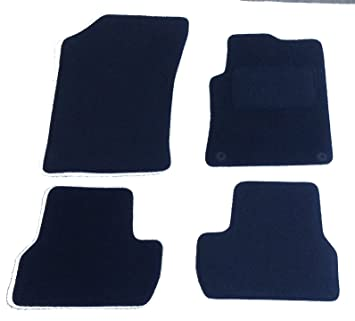 CITROEN DS4 2011 ONWARDS BLACK TAILORED CAR MATS WITH GREY TRIM