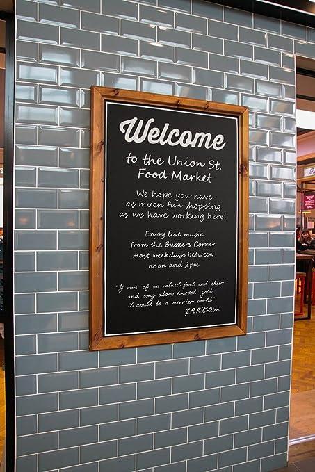 Chalkboards UK Pizarras de Madera con Marco Reino Unido ...