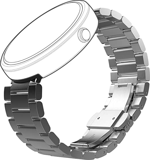 Amazon.com: Motorola Movilidad moto360 metal Watch Band – 23 ...
