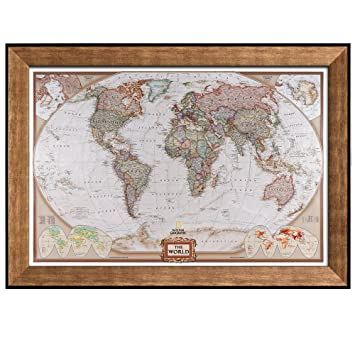 Amazon wall26 colorful national geographic antique world wall26 colorful national geographic antique world map framed art prints home decor sciox Gallery