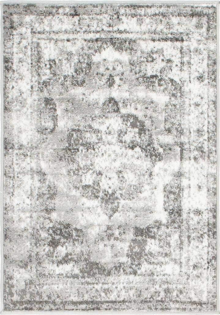 Unique Loom 3141297 Area Rug, 2' x 3' Rectangle, Gray