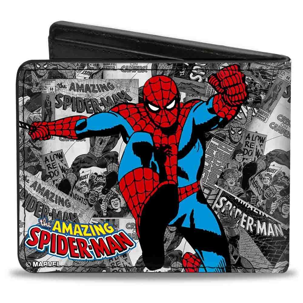 Marvel Comics BD bi-tipo cartera - The Amazing Spiderman diseño clásico de acción: Amazon.es: Ropa y accesorios