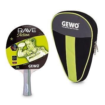 GEWO Adultos Juego de Tenis de Mesa Rave Action Incluye Redondo ...