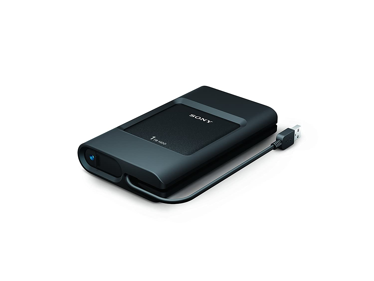 Sony PSZ-HC1T//C 1TB Ruggedized External HDD Tethered USB 3.0 cable and USB C port , Black