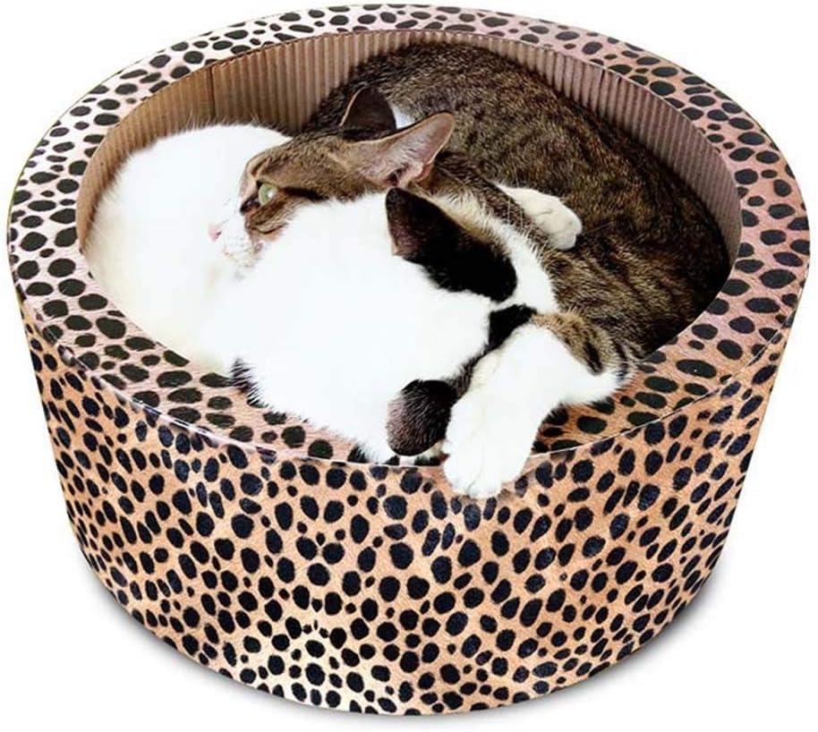 ペット猫樽猫のおもちゃラウンド掻き板厚い段ボール紙猫のラウンジ耐久性のある猫のトイレ猫ベッド38 * 17センチ