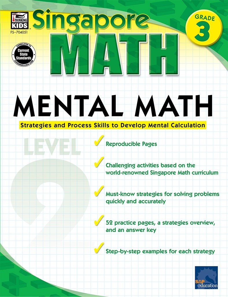 worksheet Frank Schaffer Publications Worksheets mental math grade 3 strategies and process skills to develop calculation singapore frank schaffer karen cermak serf
