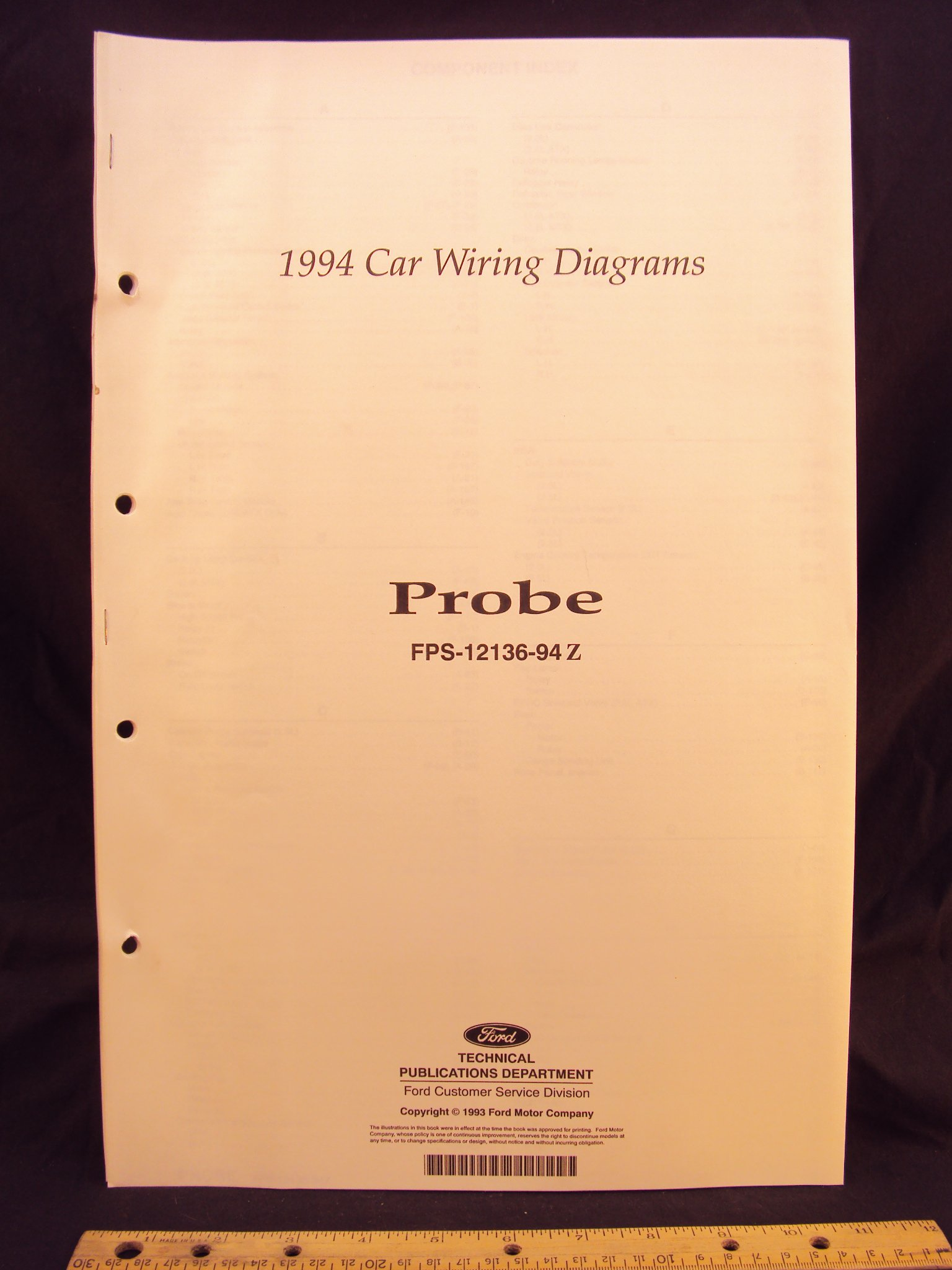 1994 ford probe electrical wiring diagrams / schematics loose leaf –  january 1, 1993