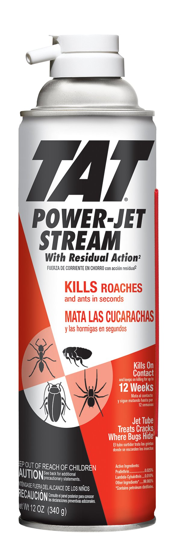 TAT Roach and Ant Jet Stream with Power Spout Pest Killer, 12-Ounce, 1-Pack by TAT (Image #1)