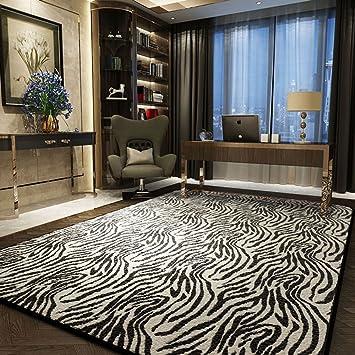 Wunderbar Schwarz Weiß Streifen Teppich Wohnzimmer Leopard Design Zebra Design  Teppich Wohnzimmer Schlafzimmer Teppich 1