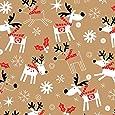 "Reindeer Hop Kraft Wrapping Paper Roll 24"" X 15'"