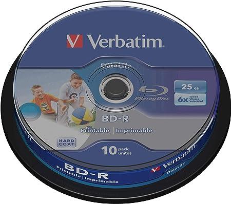 Verbatim Bd R Sl Datalife Blu Ray Disk 25 Gb 6 Times Computers Accessories