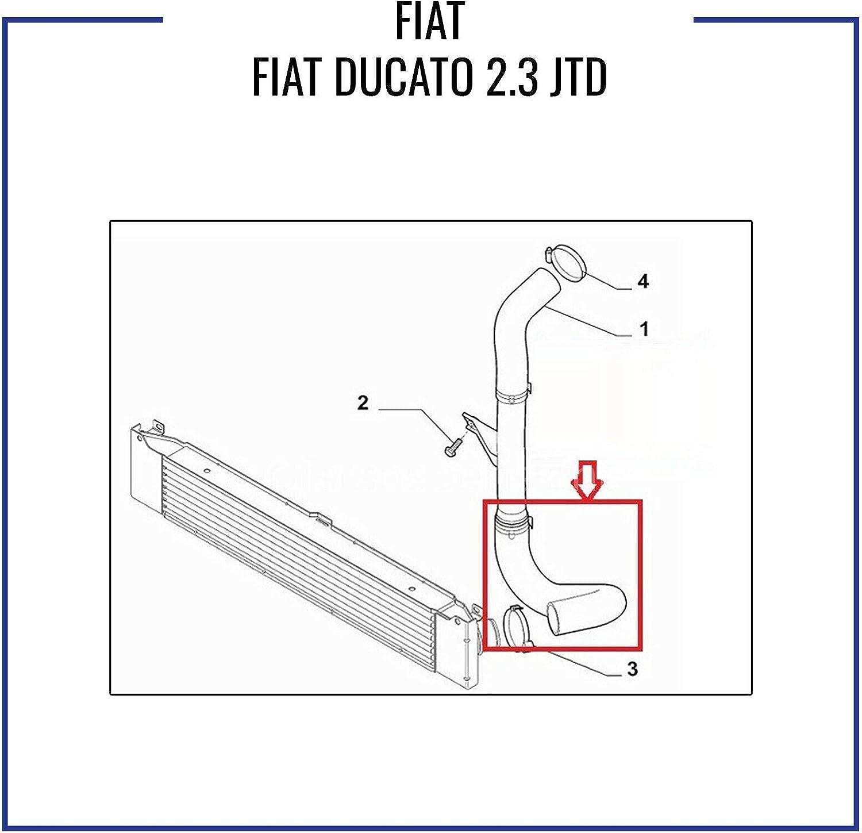 You 1350785080 S TURBO TUBO dell/'aria di tubo per FIAT DUCATO MULTIJET 3.0 D