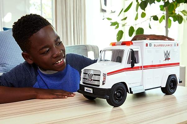 WWE Wrekkin' Slambulance action figure vehicle playset toy for kids