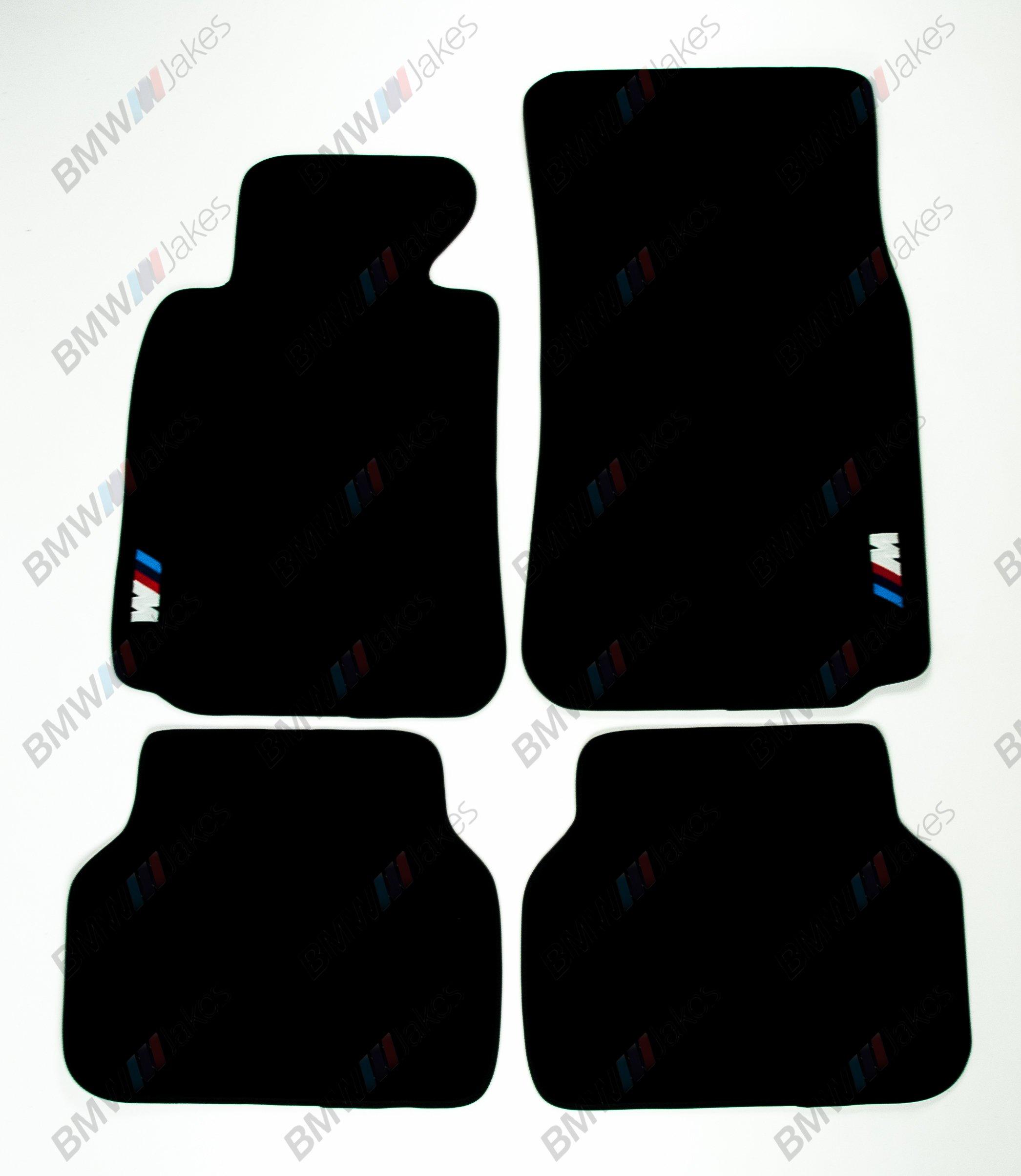 NEW CAR FLOOR MATS BLACK with ///M EMBLEM for BMW 5 series E39 1996 - 2003