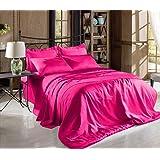 Amazon.com: Hot Pink Full Size Silky Satin Pillowcase