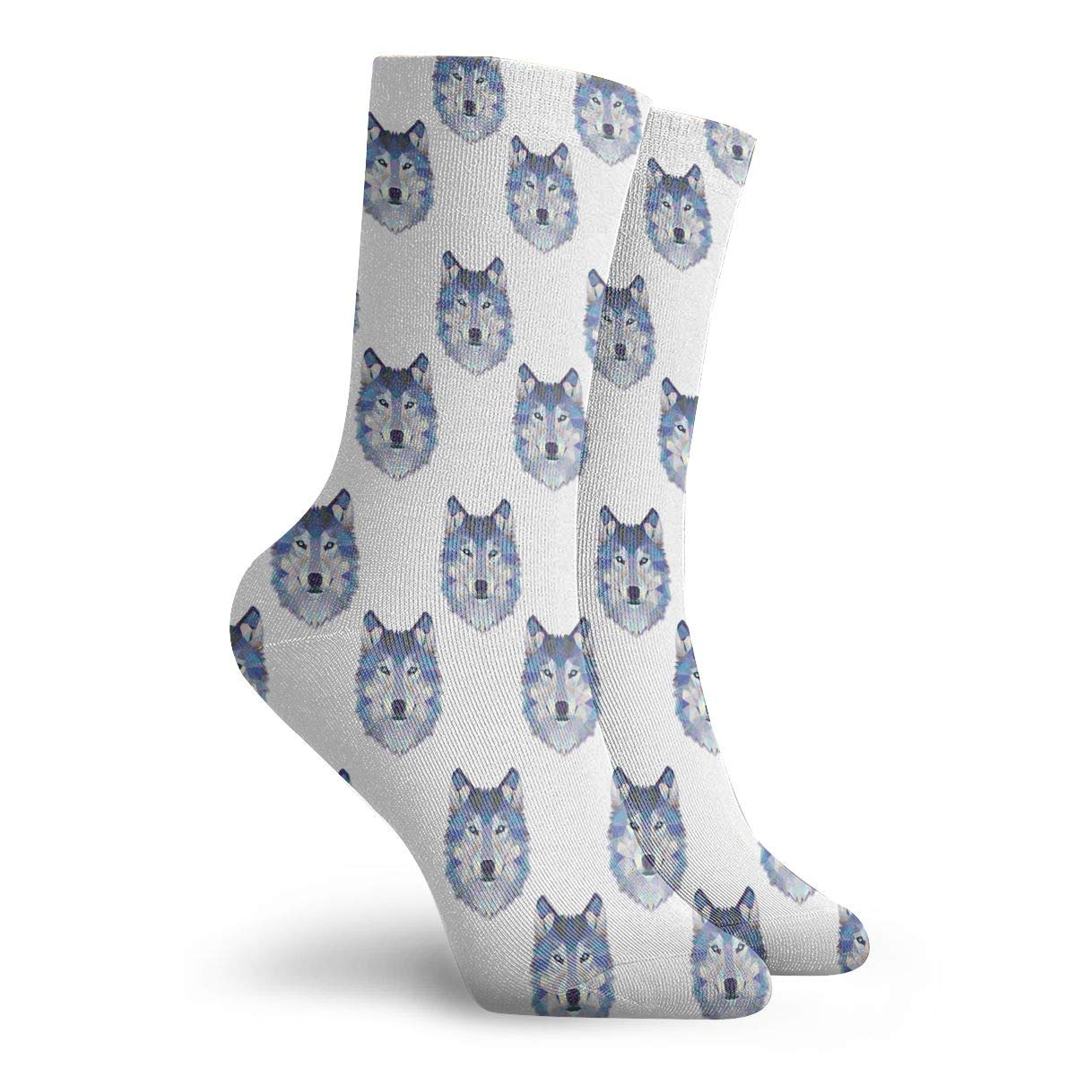 Wolf Head Unisex Funny Casual Crew Socks Athletic Socks For Boys Girls Kids Teenagers