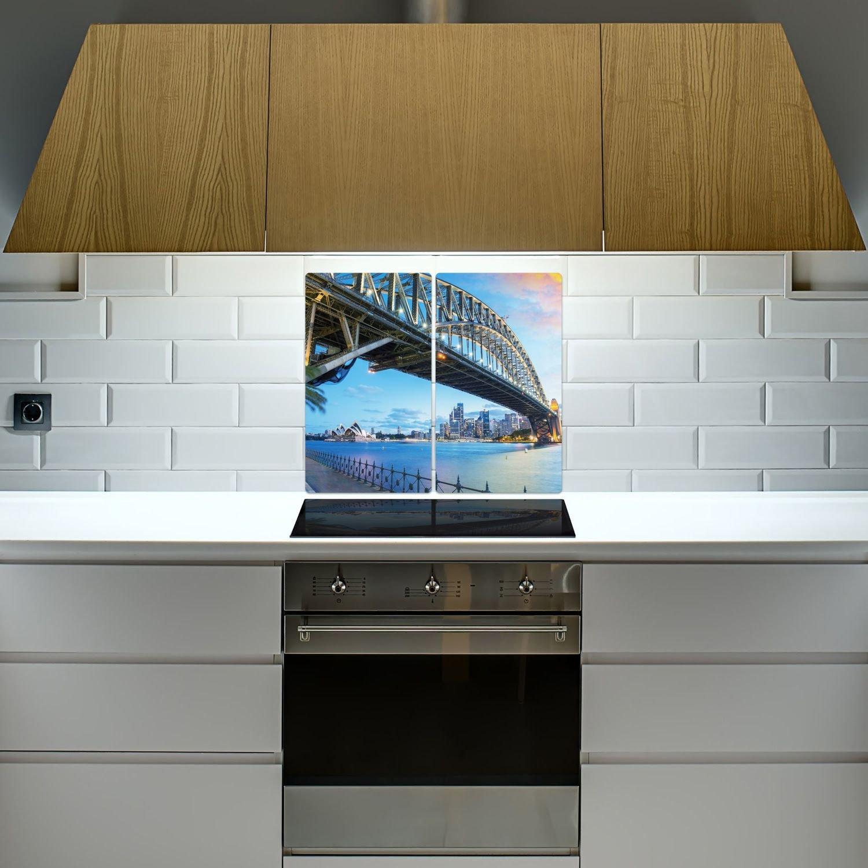 einteilig universal 52x60 cm DekoGlas Herdabdeckplatte inkl geh/ärtetes Glas Noppen Sydney Herd Ceranfeld Abdeckung