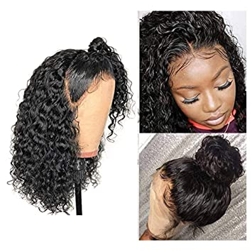 Lace Front Human Hair Wigs Deep Wave Curl