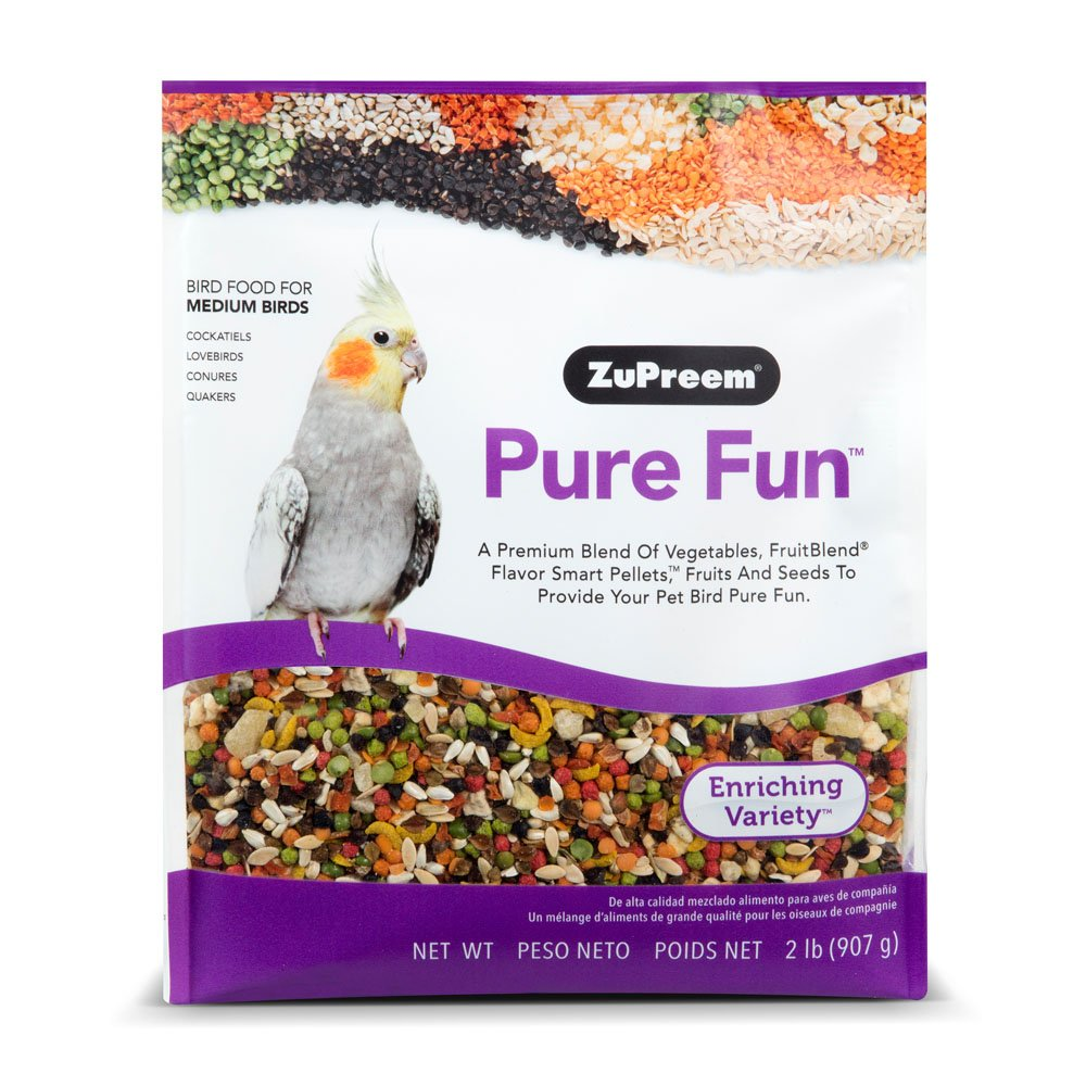 ZuPreem Pure Fun Bird Food for Medium Birds by ZuPreem