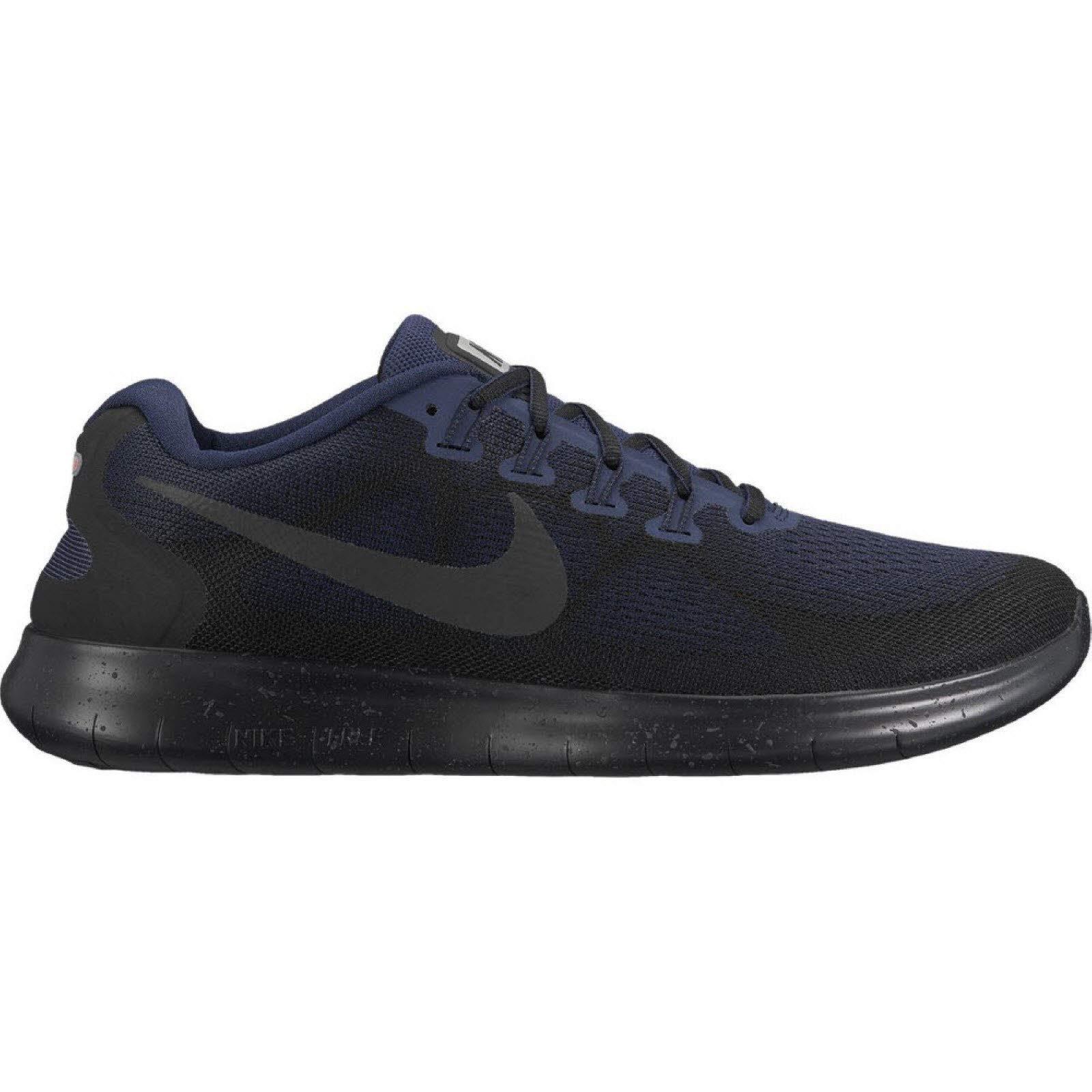 Nike Free RN 2017 Sheild (Black/Black-Black-Obsidian,9) by Nike