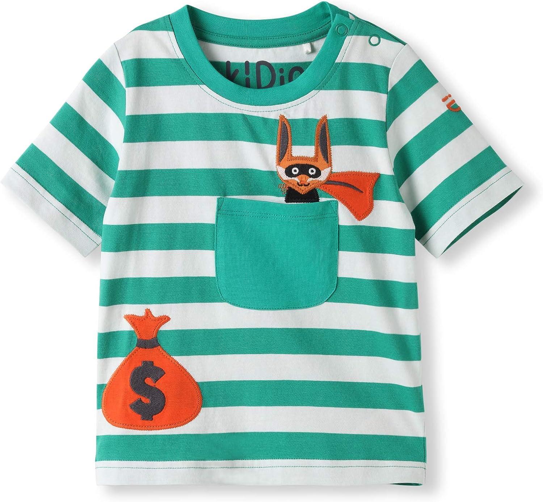 0-2 Years Girl Boy kIDio Organic Cotton Baby Infant Hooded Onesie