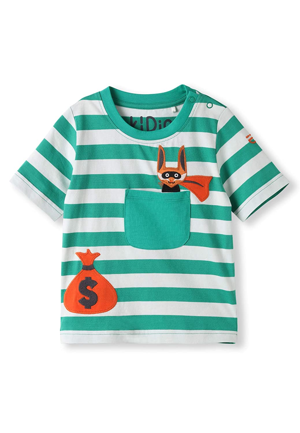 0-4 Years Boy Girl Summer Short Sleeve Tee Baby Infant Toddler T-Shirt Applique kIDio Organic Cotton