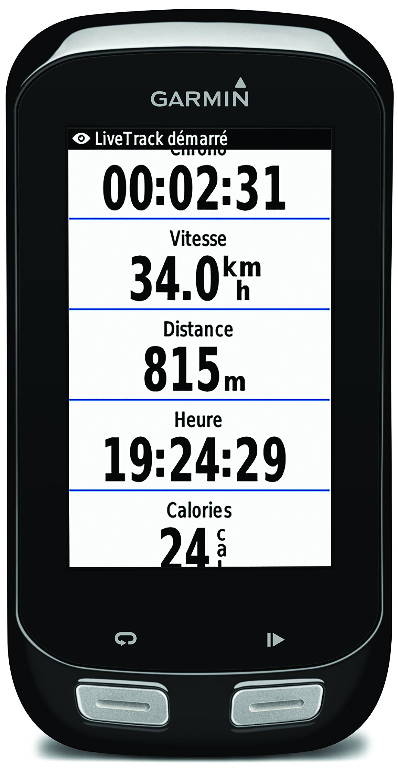 Garmin Edge 1000 Kit GPS Bike Computer con Touchscreen e Navigazione, Mappa Europa e Notifiche Smart, Fascia Cardio Soft Premium, Sensori Cadenza e Velocità, Nero/Antracite product image