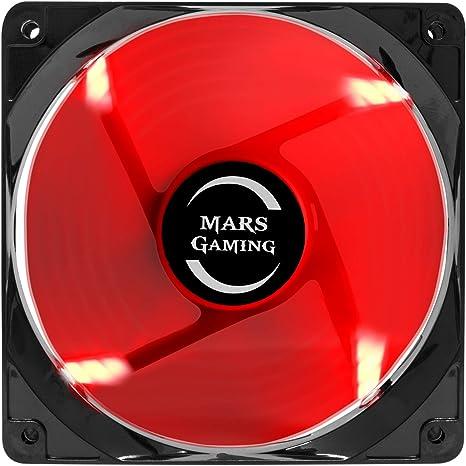 Mars Gaming MF12, Ventilador para Caja PC Gaming, Iluminación LED, Negro/ Rojo: Amazon.es: Informática