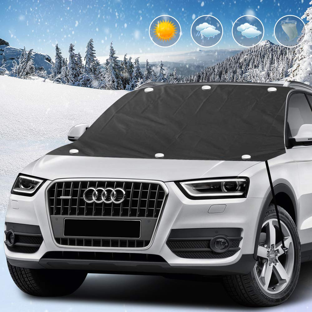 Waterproof Auto Windshield Snow Ice Cover with Magnet Double Side Design Windshield Winter Cover with Elastic Hooks Extra Large Size Fits Most Cars /& SUVs innislink Car Windshield Snow Cover