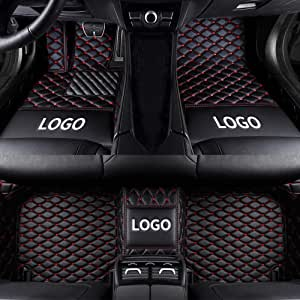 DBL Custom Car Floor Mats for Land Rover 2014-2019 Range Rover Sport 5-Seat Waterproof Non-Slip Leather Carpets Automotive Interior Accessories 1 Set Gray