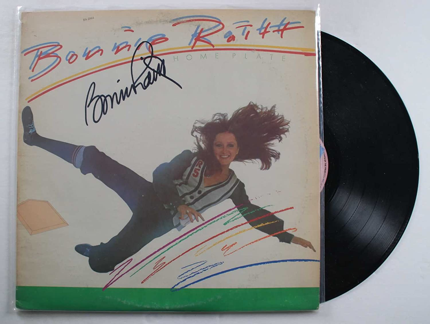 "Bonnie Raitt Signed Autographed ""Home Plate"" Record Album - COA Matching Holograms"