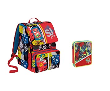 SJ High Tech - Mochila Extensible Ajustable + Estuche de 2 ...