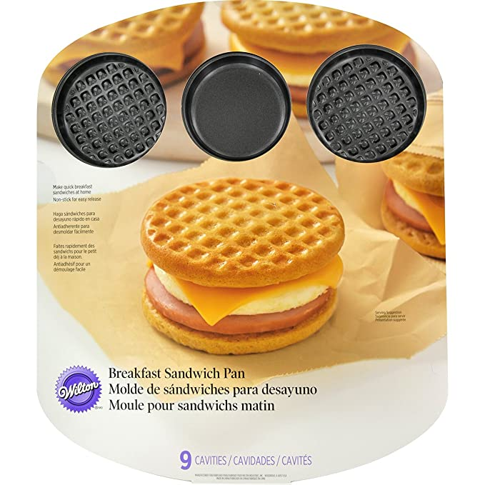 Amazon.com: Wilton 2105-8450 9 Cavity Breakfast Sandwich Pan: Kitchen & Dining