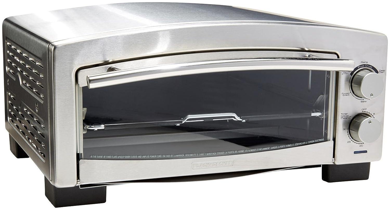 BLACK+DECKER P300S 5-Minute Snack Maker, Pizza Oven, Toaster Oven, Stainless Steel Spectrum Brands