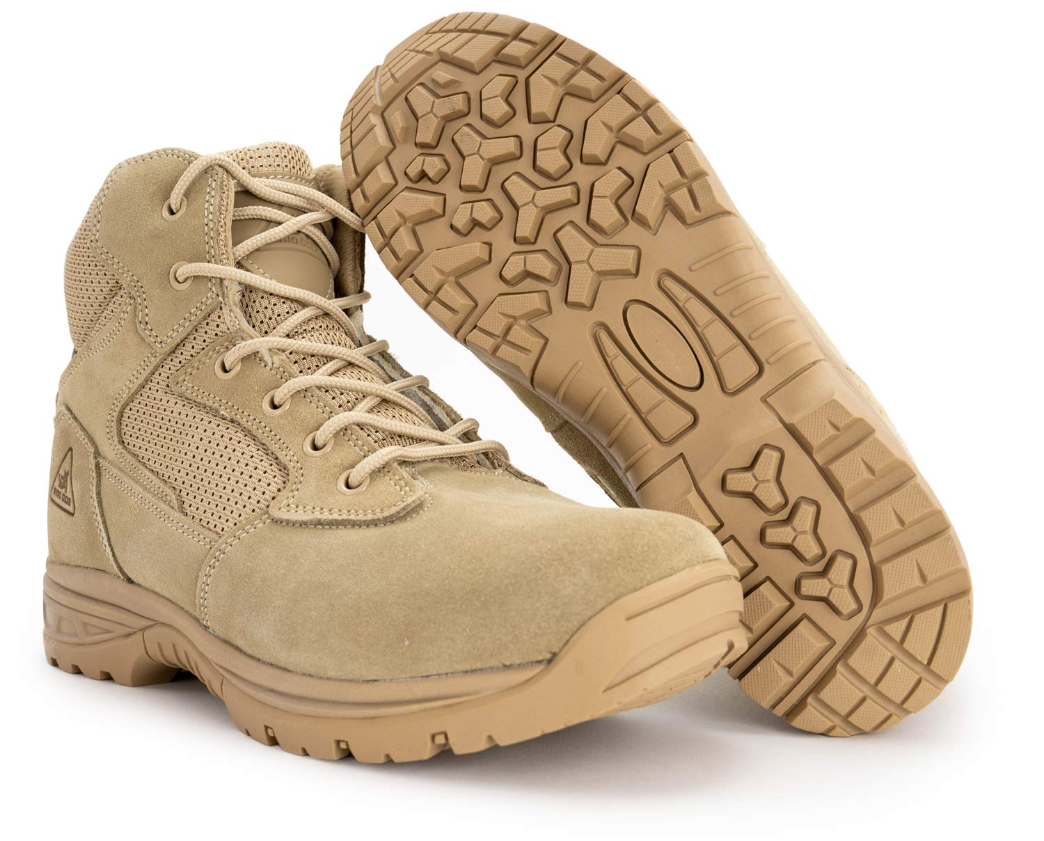6'' Ryno Gear Tactical Combat Boots (Beige) (9) Wide