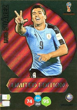 Adrenalyn XL FIFA World Cup 2018 Rusia - Luis Suárez tarjeta de comercio de edición limitada - Uruguay: Amazon.es: Deportes y aire libre