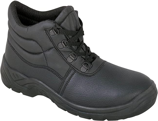 Safety Chukka Work Boots with Steel Toe