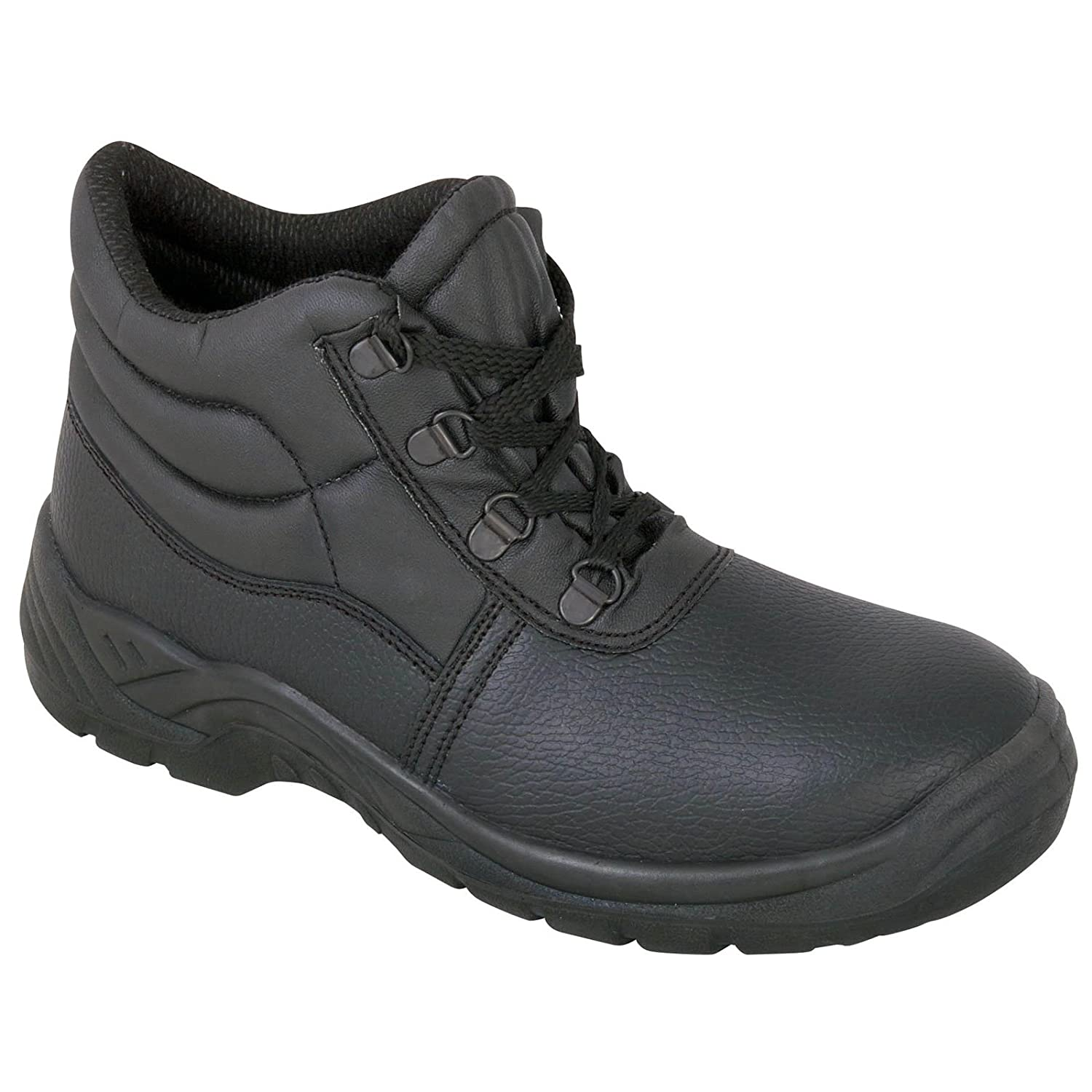 9bdc7ea9cb3 Safety Chukka Work Boots with Steel Toe Cap and Midsole Protection, Black
