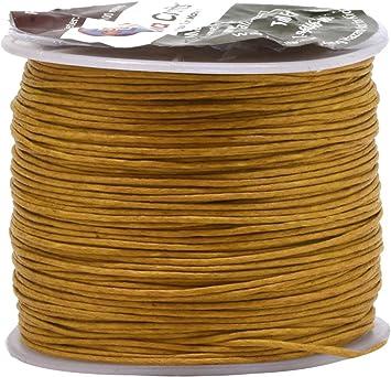 Gold Mandala Crafts 0.5mm 109 Yards Jewelry Making Crafting Beading Macram/é Waxed Cotton Cord Thread