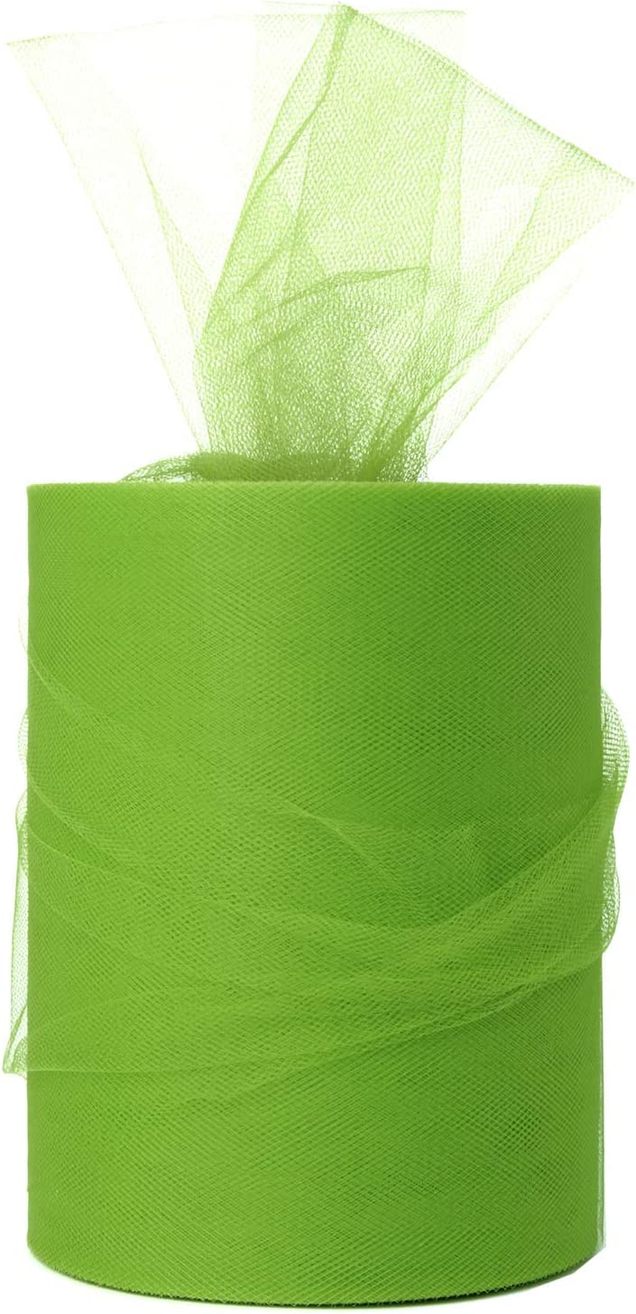 Green Tulle Roll Spool 6 Inch x 100 Yards for Tulle Decoration
