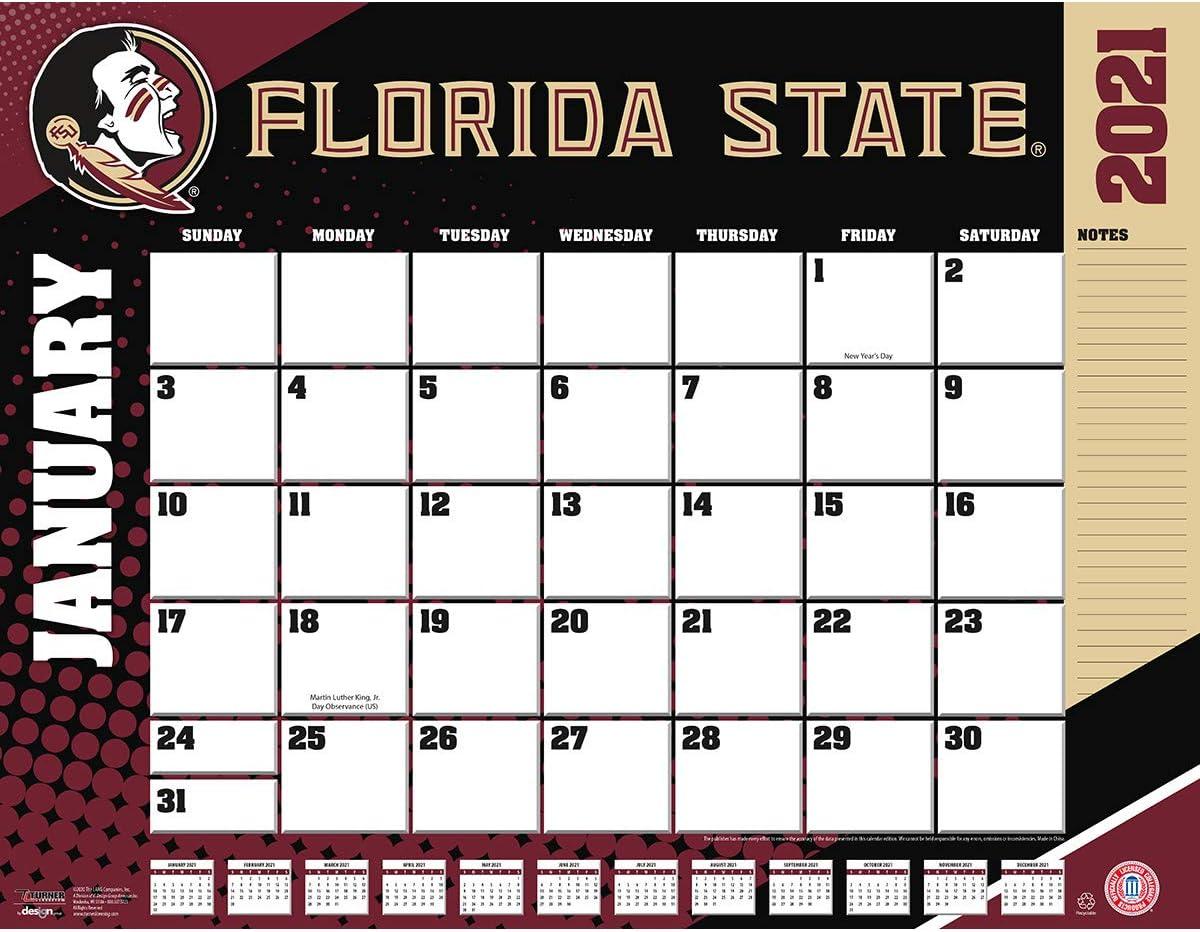 Fsu Calendar Fall 2022.Amazon Com Turner Sports Florida State Seminoles 2021 22x17 Desk Calendar 21998061478 Office Products