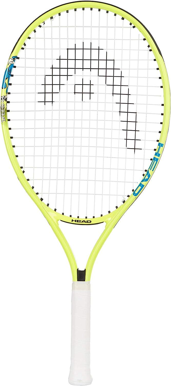 """HEAD Speed Kids Tennis Racquet - Beginners Pre-Strung Head Light Balance Jr Racket - 23"""", Yellow : Garden & Outdoor"""