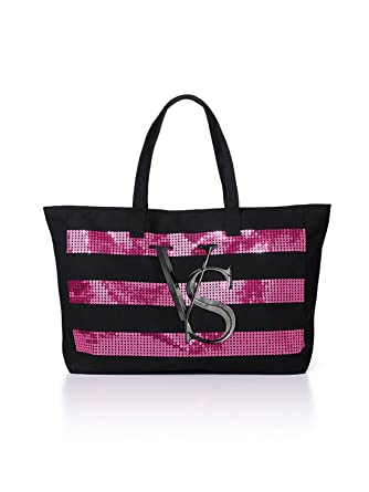 Amazon.com: Victorias Secret Tote Canvas Bag 2014 with Sequin ...